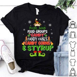 Hot Four Main Food Groups Elf Christmas shirt