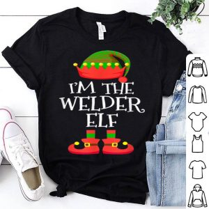 Hot I'M THE Welder ELF Christmas Xmas Funny Elf Group Costume shirt