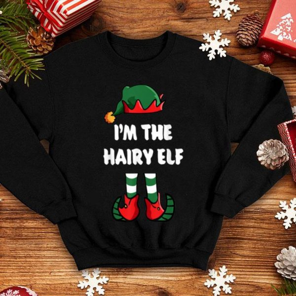 Hot I'm The Hairy Elf Matching Family Group Funny Christmas shirt