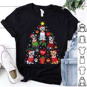 Hot Pit Bull American Staffordshire Christmas Tree Dog Gift shirt