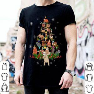 Hot Sloth Christmas Tree Lights Funny Sloth Xmas Gift shirt