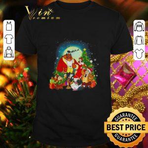Nice Beauty And The Beast Merry Christmas shirt