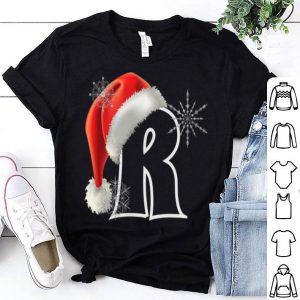 Nice Cutest Capital Letter R Santa Monogram Christmas Holidays shirt