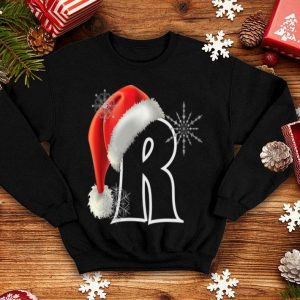 Nice Cutest Capital Letter R Santa Monogram Christmas Holidays shirt