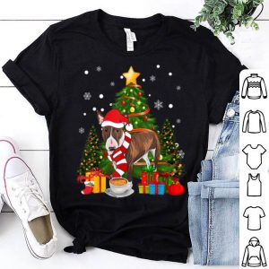 Nice Funny Bull Terrier Dog Santa Hat Christmas Coffee shirt