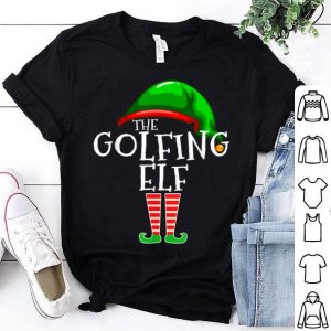 Nice Golfing Elf Family Matching Group Christmas Gift Golf Dad shirt