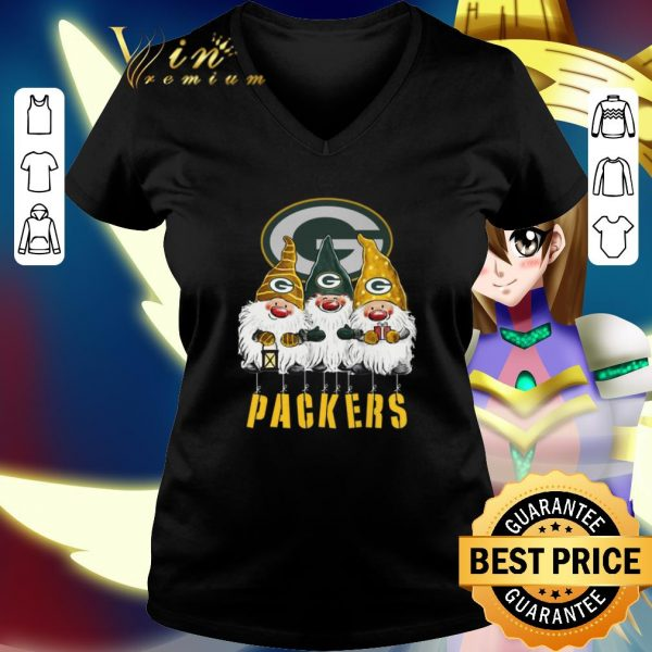 Nice Green Bay Packers Just Hangin with My Gnomies shirt