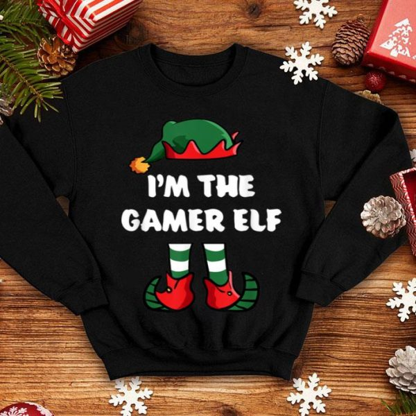 Nice I'm The Gamer Elf Matching Family Group Funny Christmas shirt