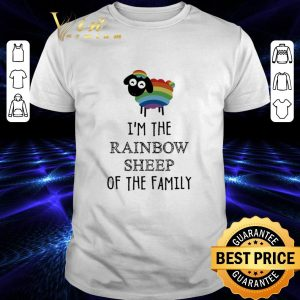 Nice LGBT I'm the Rainbow Sheep of the family shirt