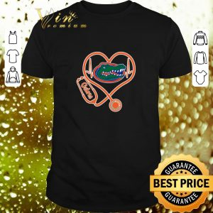 Nice Love Florida Gators Heartbeat Nurse shirt