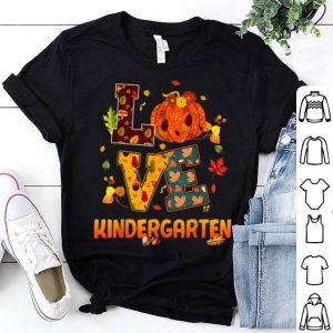 Nice Love KINDERGARTEN Teacher Gift Fall & Autumn Cuties shirt
