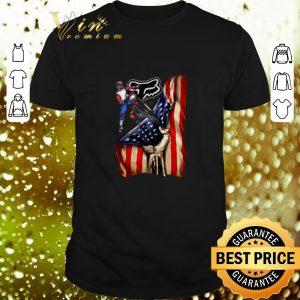 Nice Motorcycle Fox Racing American flag shirt