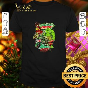 Nice Mountain Dew Avengers Marvel shirt
