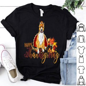 Nice Pit Bull Dog Turkey Dish Wine Happy Thanksgiving Gifts shirt