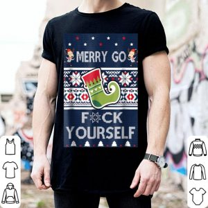 Official Christmas Merry Go F Yourself Funny Xmas Gift Tee shirt