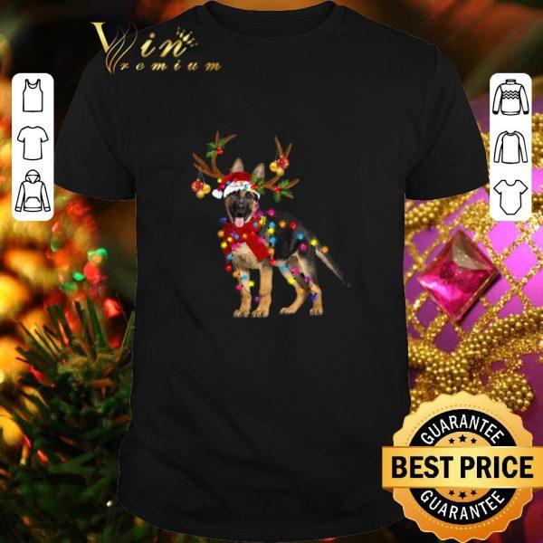 Official German Shepherd santa reindeer Christmas shirt