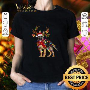 Official German Shepherd santa reindeer Christmas shirt 1