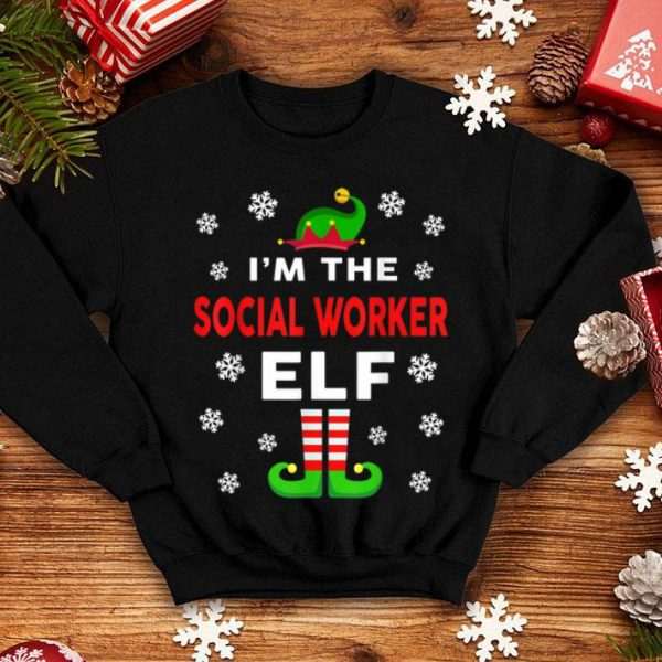 Official I Am The Social Worker Elf Christmas Sweater Gift Funny shirt