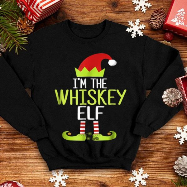 Official I'm The Whiskey Elf Christmas Family Elf Costume shirt