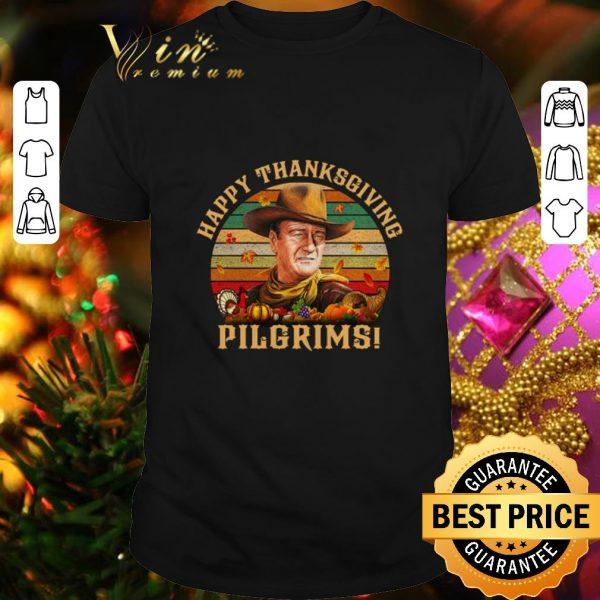 Official John Wayne Happy Thanksgiving Pilgrims Vintage shirt