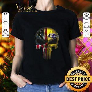 Official Punisher Skull American flag Baltimore Ravens shirt