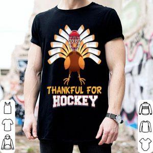 Official Thankful For Hockey Turkey Sport Love Thanksgiving Family shirt