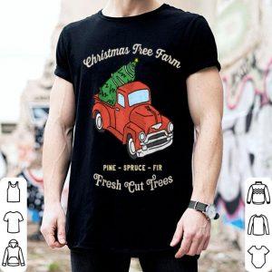 Official Vintage Fresh Cut Christmas Tree Farm Red Truck Farmhouse shirt