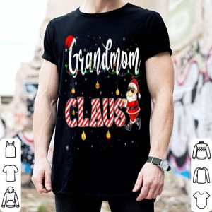 Original Cute Christmas Grandmom Santa Hat Gift Matching Family Xmas shirt