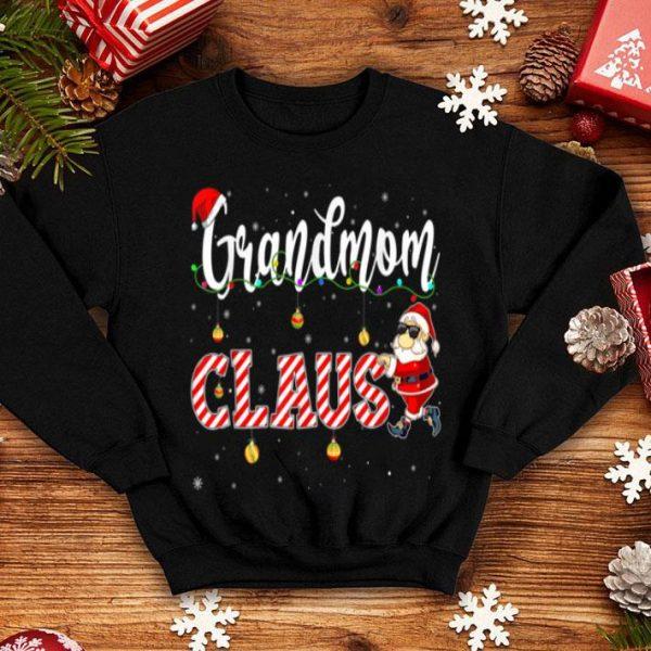 Original Cute Christmas Grandmom Santa Hat Gift Matching Family Xmas shirt
