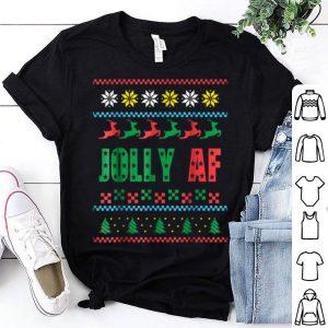 Original Jolly AF Ugly Christmas Offensive Humor Gift shirt