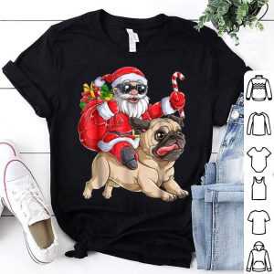 Original Pug Christmas Santa Claus Riding Pugmas Dog Xmas Boys sweater