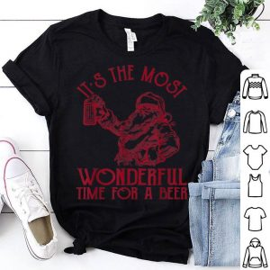 Original Santa Claus It's The Most Wonderful Time For A Beer shirt