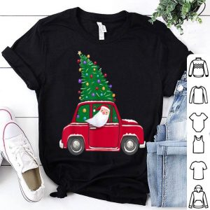 Original Santa Riding Vintage Christmas Wagon Cute Xmas Tree Gift shirt