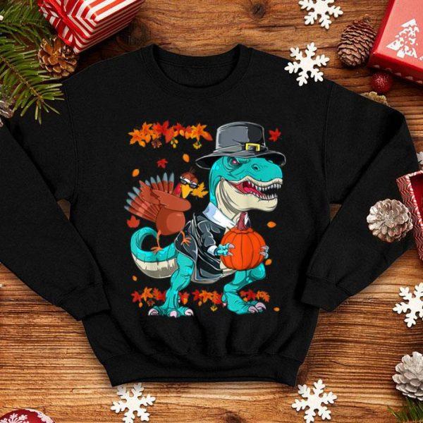 Original Thanksgiving T-Rex Dinosaur Dabbing Turkey Funny Gift Boy shirt