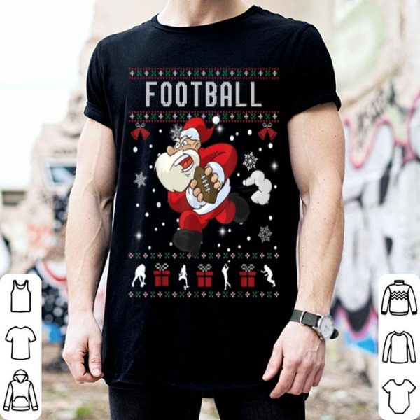 Premium American Football Santa Claus Ugly Christmas Sweater Sport shirt