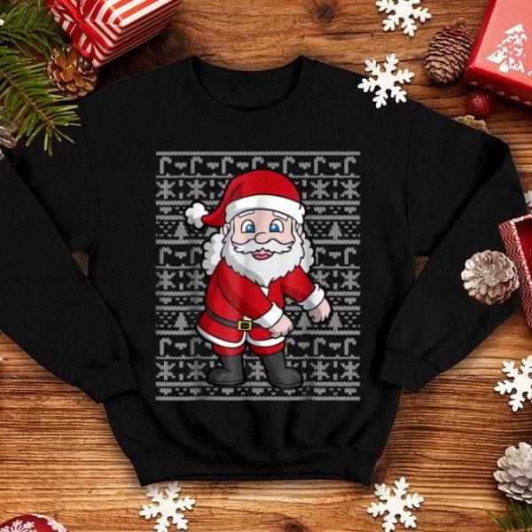 Premium Christmas Kids Floss Like A Boss Santa Boys sweater