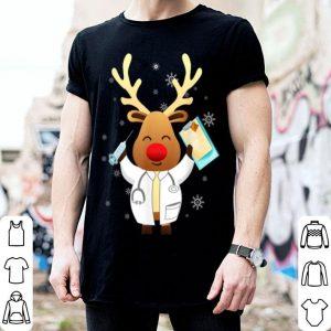 Premium Medical Scrub Top Reindeer Nurse With Stethoscope Christmas shirt