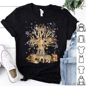Premium Wolfs Santa Hat Christmas Tree Ornament Decor Gift shirt