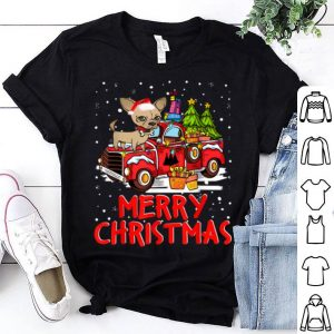 Pretty Chihuahua Rides Red Truck Merry Christmas Pajama Funny Gifts sweater