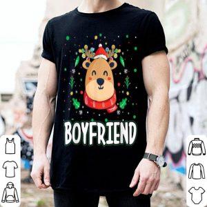 Pretty Cute Boyfriend Reindeer Santa Ugly Christmas Family Matching shirt