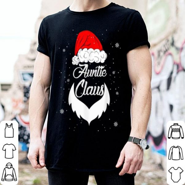 Pretty Funny Christmas Auntie Santa Hat Matching Family Xmas Gifts sweater