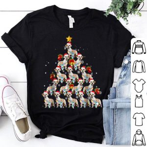 Pretty Jack Russell Dog Lights Lover Christmas Tree Gifts shirt