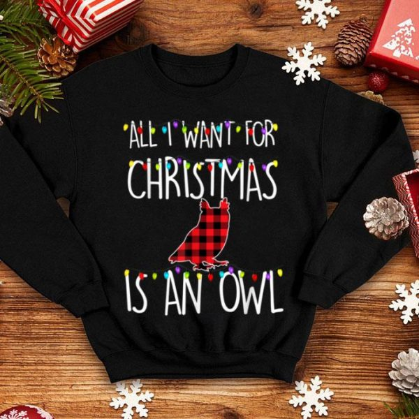 Top All I Want For Christmas Is An Owl Animal Xmas Gift sweater