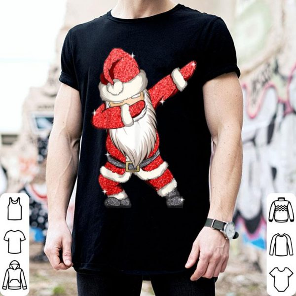 Top Dabbing Santa Claus Christmas Kids Boys Girls Dab Xmas Gifts shirt