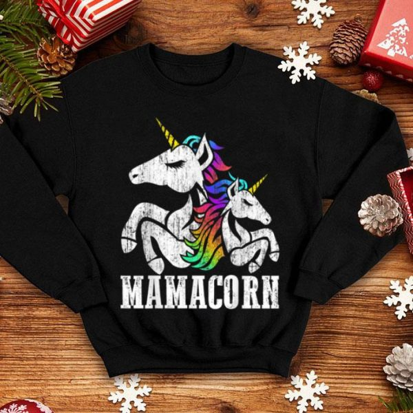 Top Mamacorn Unicorn Mom Baby Mommy Motherhood Christmas Gift shirt