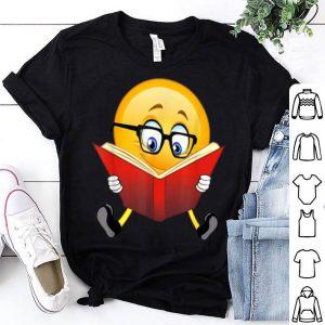 Top Nerdy Reading Emoji Funny Christmas Cute Book Lover Gift shirt