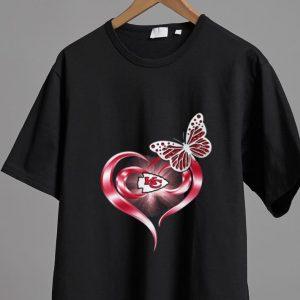 Awesome Butterfly Heart Love Kansas City Chiefs shirt