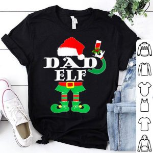 Awesome Dad Elf Christmas Santa Hat Family Matching Gift sweater