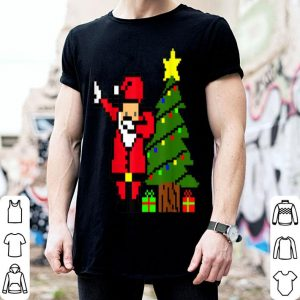 Awesome Retro Arcade Game dabbing Santa Christmas 80s tee gift sweater
