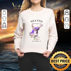 Cool Reindeer Heaven art watercolor Merry Christmas 2019 shirt